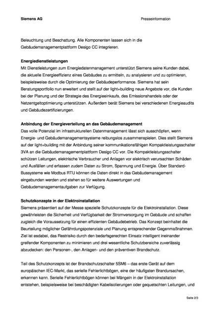 Siemens präsentiert Neuheiten für das intelligente und energieeffiziente Gebäude, Seite 2/3, komplettes Dokument unter http://boerse-social.com/static/uploads/file_703_siemens_prasentiert_neuheiten_fur_das_intelligente_und_energieeffiziente_gebaude.pdf (01.03.2016)