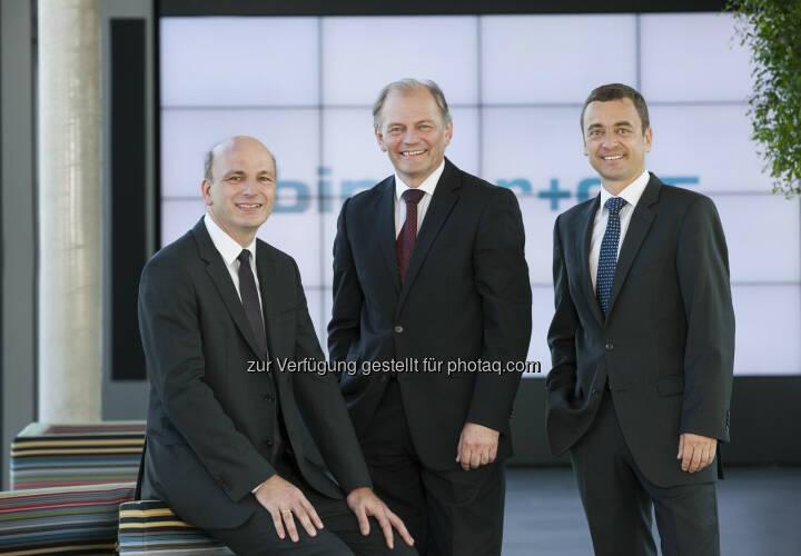 Jörg Rosegger, Karl Grabner und Johannes Pohl (Vorstand Binder + Co) : Binder+Co plant Umstellung auf Namensaktien : Binder+Co 2015 mit deutlichen Zuwächsen : Fotocredit: Binder+Co