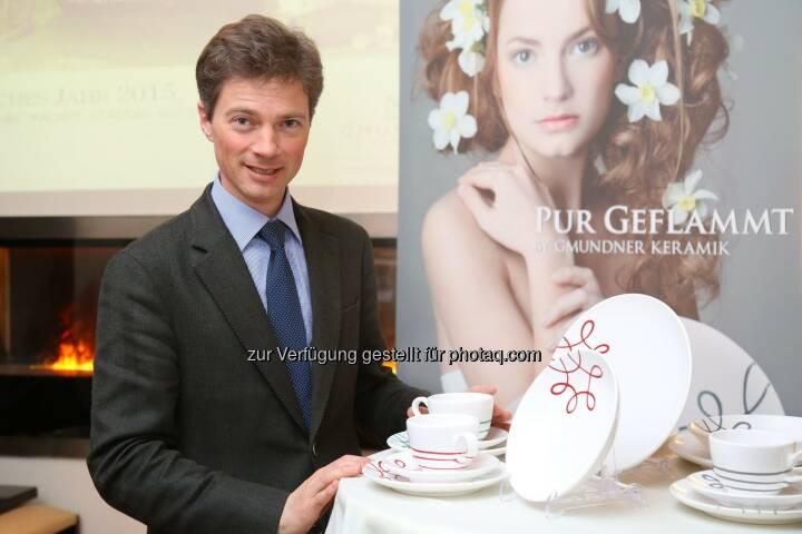 Jakob von Wolff (GF Gmundner Keramik) : Erfolgreiches Jahr 2015: Gmundner Keramik wächst stärker als die Branche : Fotocredit: Gmundner Keramik Manufaktur GmbH/APA-Fotoservice/Schedl