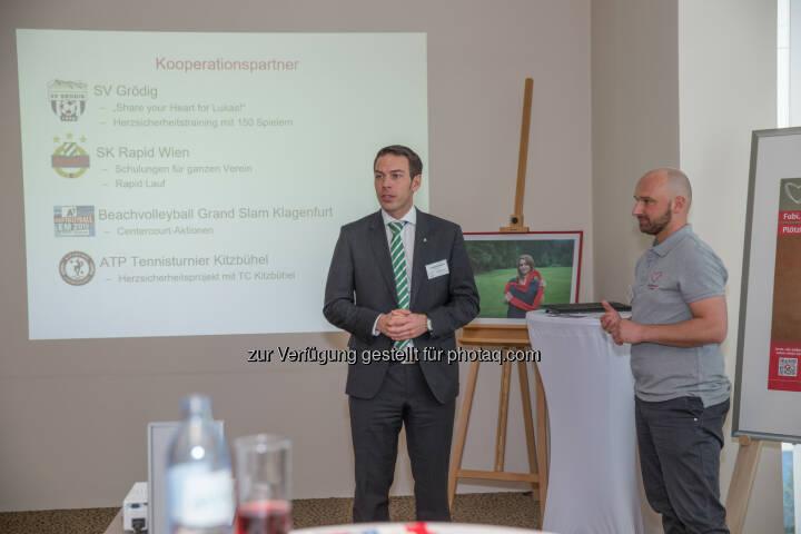 Christoph Peschek (SK Rapid Wien Geschäftsführer), Gregor Fink (Gründer Heartbeat Foundation) : Sportprominenz beim Botschaftertreffen der Heartbeat Foundation : Fotocredit: Heartbeat Foundation/Gassner