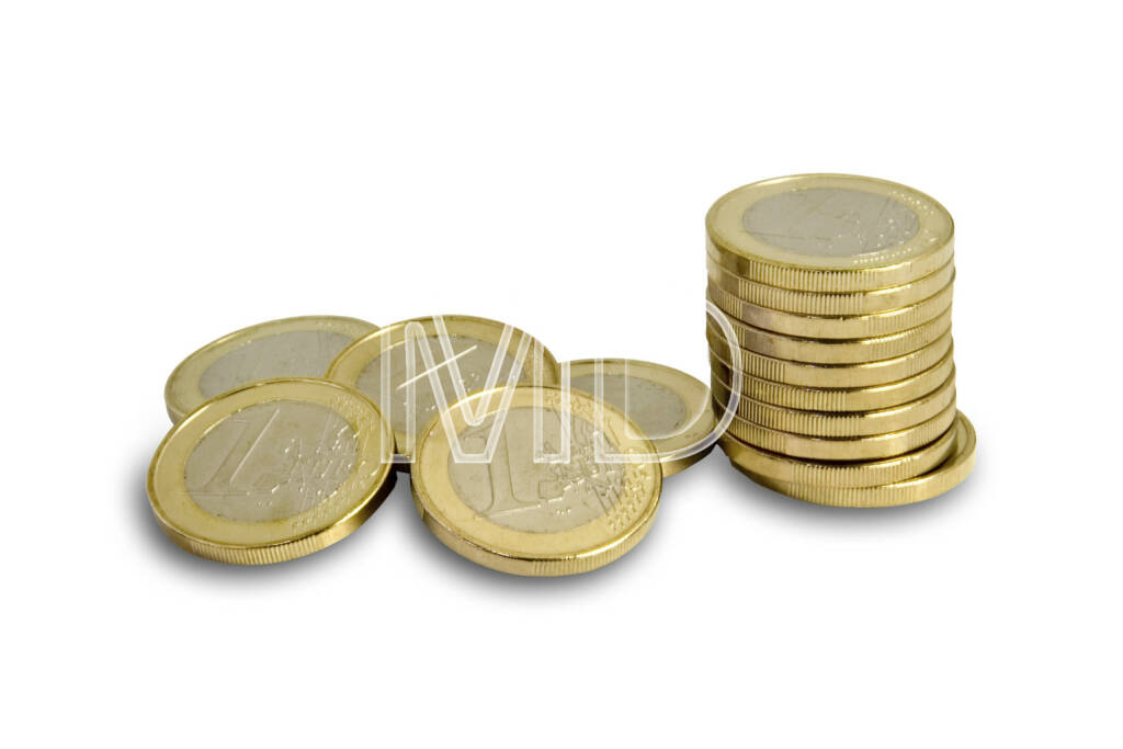 1 Euro Münzen, Münzstapel, © Martina Draper (06.04.2013)