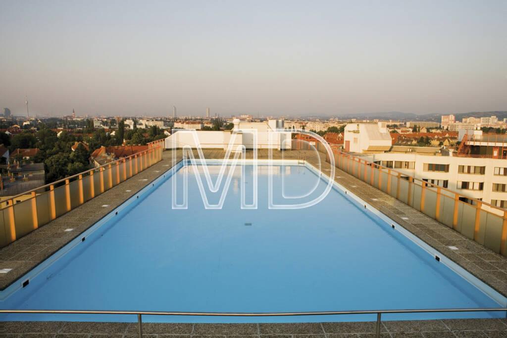 Dachswimmingpool, Pool, Schwimmbad, Schwimmbecken, Schwimmen, Immobilien (06.04.2013)