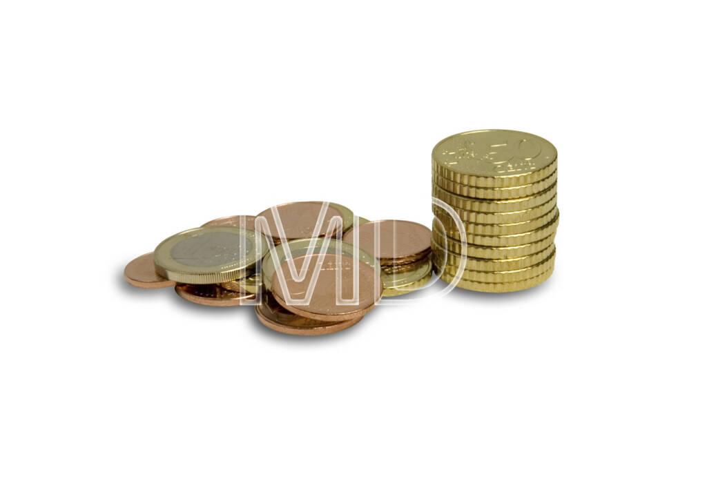 Euro Cent Münzen, Münzstapel, © Martina Draper (06.04.2013)