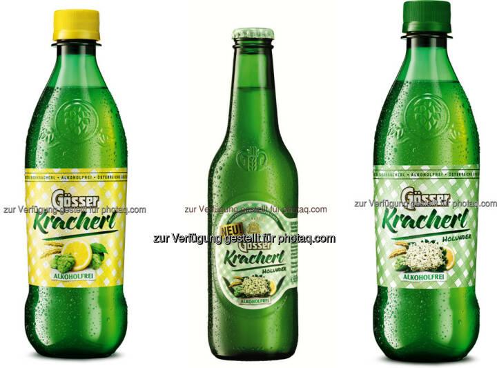 Gösser Kracherln (Holunder, Zitrone) : Das Gösser Kracherl kommt nun auch ab März in der praktischen Leichtflasche auf den Markt : Außerdem wird eine neue Geschmacksrichtung – Holunder - vorgestellt : Fotocredit: Brau Union Österreich