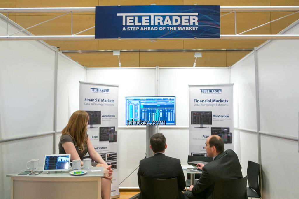 Teletrader am Fonds Kongress, © Martina Draper/photaq (03.03.2016)