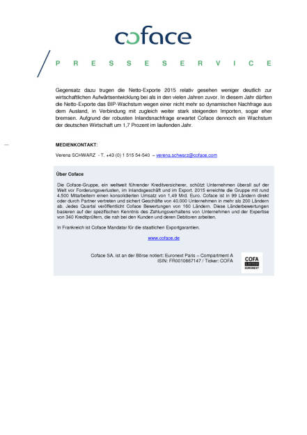 Coface Panorama Deutschland: Risiken für deutsche Exporte deutlich gestiegen, Seite 2/2, komplettes Dokument unter http://boerse-social.com/static/uploads/file_734_coface_panorama_deutschland_risiken_fur_deutsche_exporte_deutlich_gestiegen.pdf (07.03.2016)