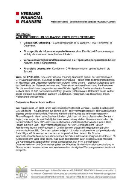 AFP Pressemitteiling: GfK Studie: Wem Österreich in Geld-Angelegenheiten vertraut, Seite 1/3, komplettes Dokument unter http://boerse-social.com/static/uploads/file_738_afp_pressemitteiling_gfk_studie_wem_osterreich_in_geld-angelegenheiten_vertraut.pdf (07.03.2016)