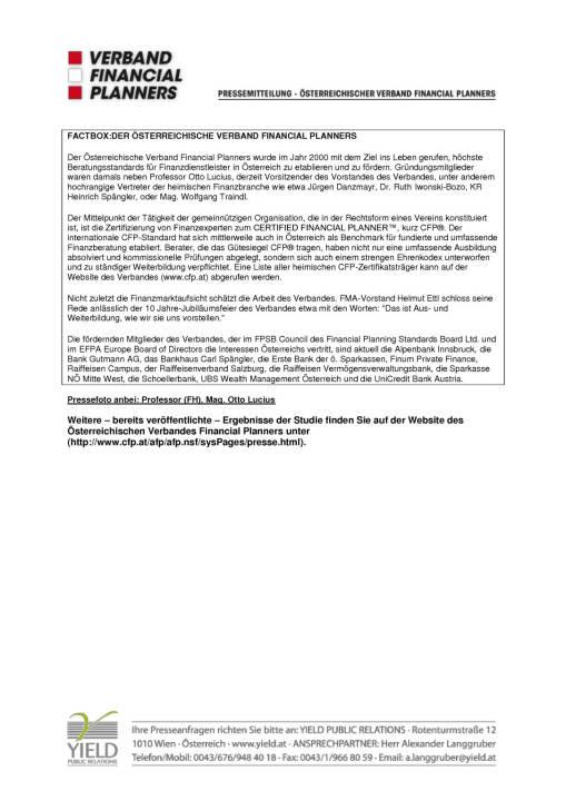 AFP Pressemitteiling: GfK Studie: Wem Österreich in Geld-Angelegenheiten vertraut, Seite 3/3, komplettes Dokument unter http://boerse-social.com/static/uploads/file_738_afp_pressemitteiling_gfk_studie_wem_osterreich_in_geld-angelegenheiten_vertraut.pdf