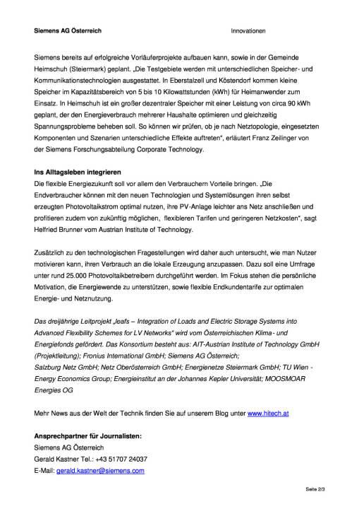 Siemens: Forscher untersuchen Folgen der Verbreitung von kleinen, lokalen Stromspeichereinheiten, Seite 2/3, komplettes Dokument unter http://boerse-social.com/static/uploads/file_739_siemens_forscher_untersuchen_folgen_der_verbreitung_von_kleinen_lokalen_stromspeichereinheiten.pdf