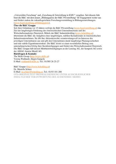 """Houskapreis 2016: B&C Privatstiftung präsentiert Nominierte für Österreichs """"Forschungs-Oscar"""", Seite 3/3, komplettes Dokument unter http://boerse-social.com/static/uploads/file_740_houskapreis_2016_bc_privatstiftung_prasentiert_nominierte_fur_osterreichs_forschungs-oscar.pdf (07.03.2016)"""