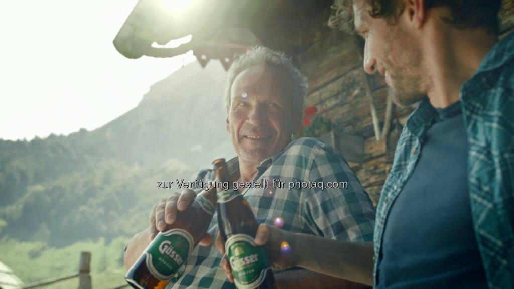 Neue Gösser-Kampagne : Österreichs bestes Bier verbindet Generationen : Fotocredit: Brau Union Österreich, © Aussender (07.03.2016)