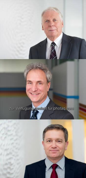 Michael Schaefer (Vorsitzender des Vorstands der BMW Stiftung Herbert Quandt), Carl-August Graf v. Kospoth (Vorstand der BMW Stiftung Herbert Quandt), Markus Hipp (Vorstand der BMW Stiftung Herbert Quandt) : BMW Group baut Stiftungsengagement aus: Erhöhung des Vermögens der Stiftung auf 100 Millionen Euro : © BMW Group