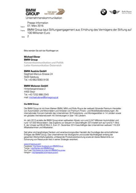 BMW Group baut Stiftungsengagement aus, Seite 3/3, komplettes Dokument unter http://boerse-social.com/static/uploads/file_744_bmw_group_baut_stiftungsengagement_aus.pdf (07.03.2016)