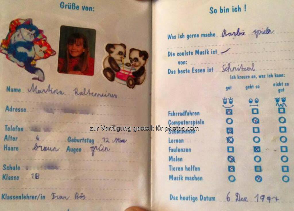 Martina Kaltenreiner, Stammbuch (07.03.2016)
