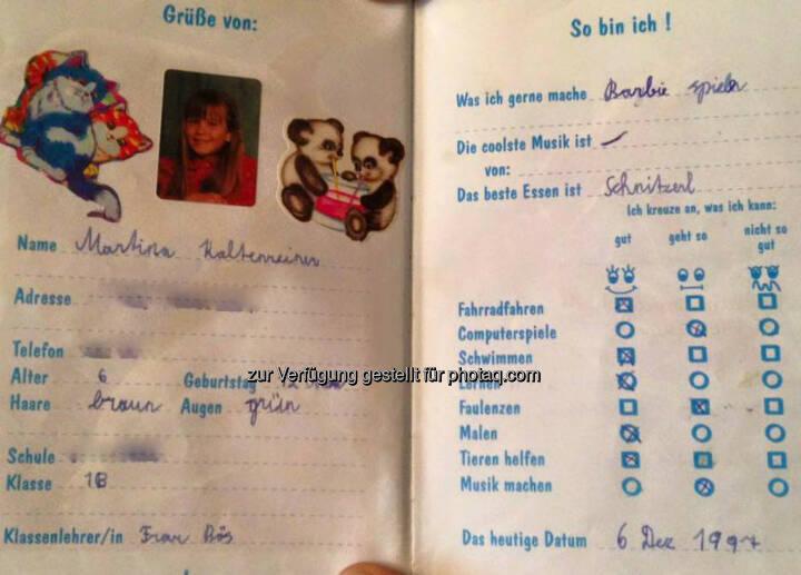 Martina Kaltenreiner, Stammbuch