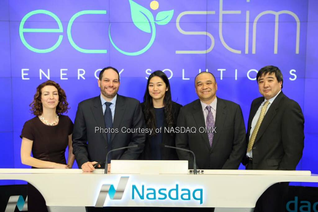 EcoStim Energy Solutions rings the #Nasdaq Closing Bell! $ESES  Source: http://facebook.com/NASDAQ (08.03.2016)