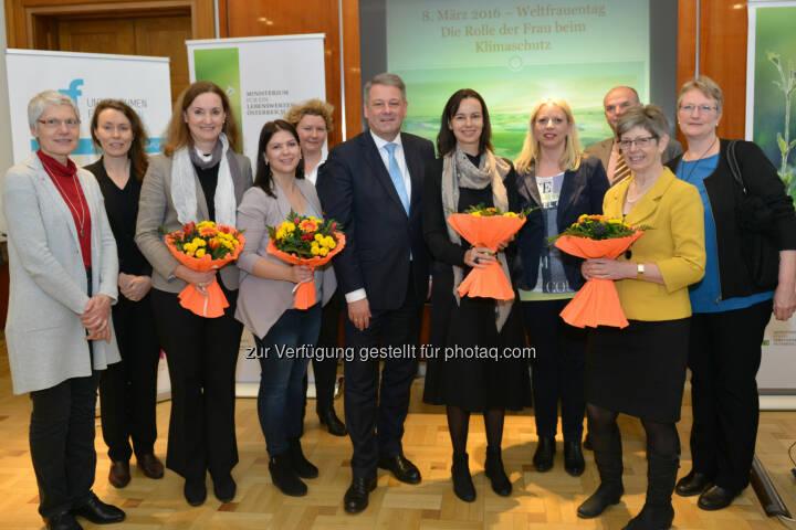 """Andrä Rupprechter, Sophie Karmasin : Anlässlich des Weltfrauentages am 8. März organisierten das BMLFUW und das BMFJ eine Veranstaltung zum Thema """"Die Rolle der Frau beim Klimaschutz"""" : Fotocredit: bmlfuw"""