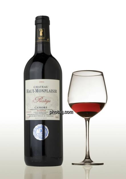 Weinflasche mit Rotweinglas, © Martina Draper (06.04.2013)