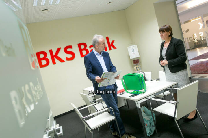 Christian Drastil, Herta Stockbauer (Vorstand BKS-Bank)