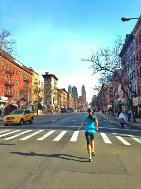 Monika Kalbacher: Morning Run NYC bei frühlingshaften 20 Grad (10.03.2016)