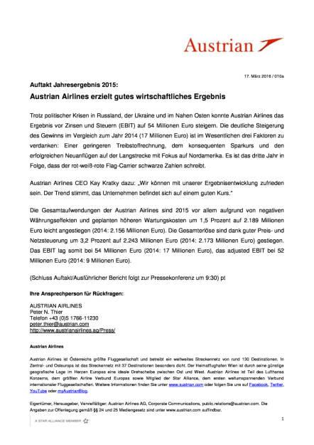 Austrian Airlines erzielt gutes wirtschaftliches Ergebnis, Seite 1/1, komplettes Dokument unter http://boerse-social.com/static/uploads/file_797_austrian_airlines_erzielt_gutes_wirtschaftliches_ergebnis.pdf (17.03.2016)