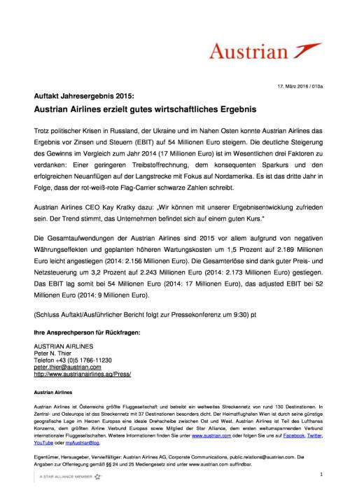 Austrian Airlines erzielt gutes wirtschaftliches Ergebnis, Seite 1/1, komplettes Dokument unter http://boerse-social.com/static/uploads/file_797_austrian_airlines_erzielt_gutes_wirtschaftliches_ergebnis.pdf