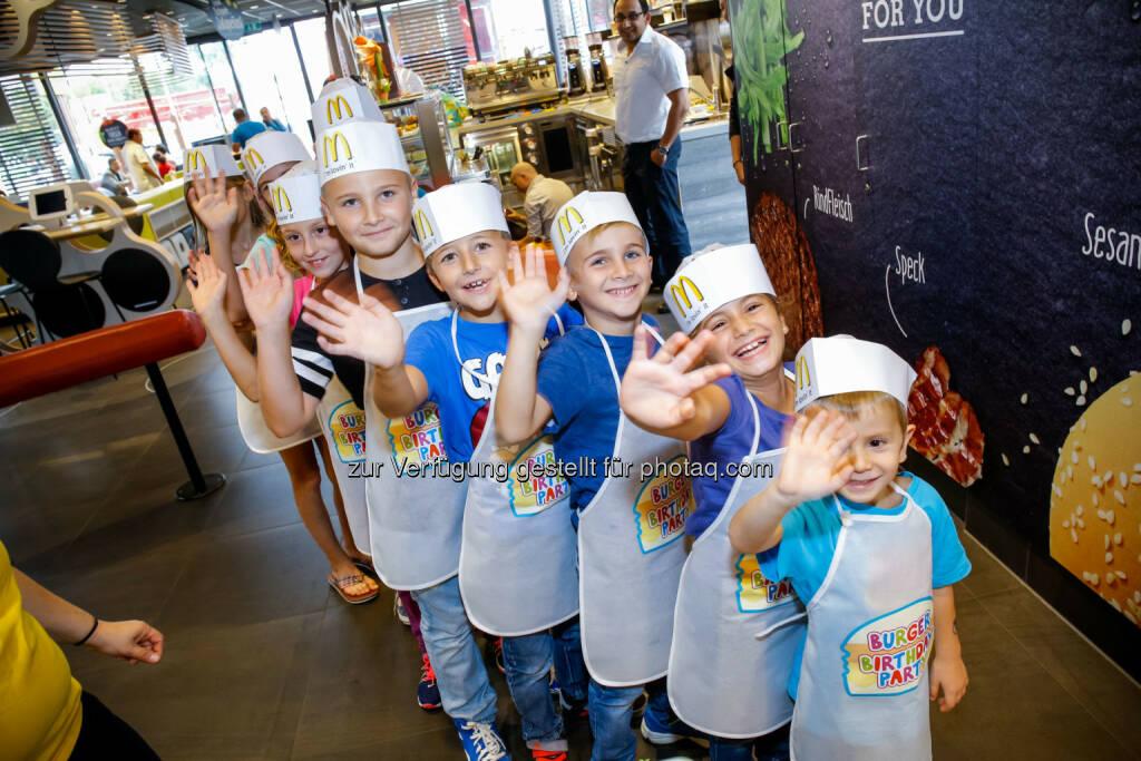 Burger Birthday Party : Neue Themen-Geburtstagspartys bei McDonald's Österreich : Professionelle Kinderbetreuung mit Spaßfaktor : Fotocredit: McDonald's Österreich/Husar, © Aussender (17.03.2016)
