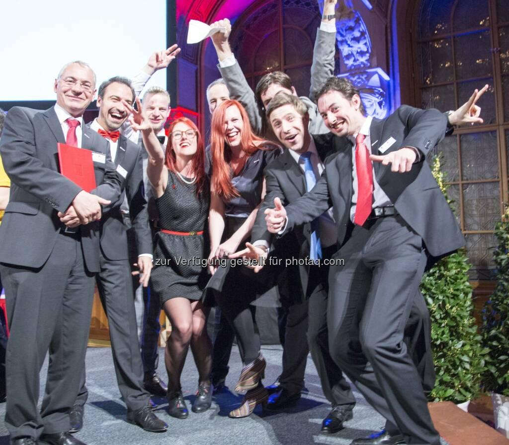 """Ranorex GmbH : Zählt den besten Arbeitgebern Österreichs 2016 – Great Place To Work® : Ranorex wurden die Auszeichnungen """"Österreichs Beste Arbeitgeber 2016"""" und """"Beste Arbeitgeber Steiermark"""" verliehen : Fotocredit: Ranorex GmbH/Stoiser, © Aussendung (18.03.2016)"""