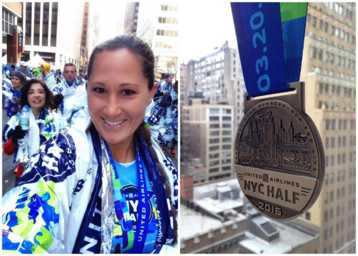Monika Kalbacher beim NYC Halbmarathon