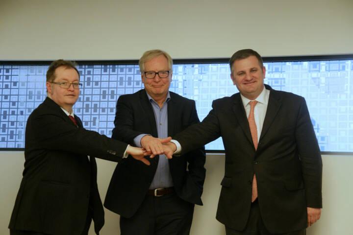 Gregor Rosinger, Dietrich Bock und Eduard Berger bereiten den Börsengang der Dr. Bock Industries vor © Rosinger Group