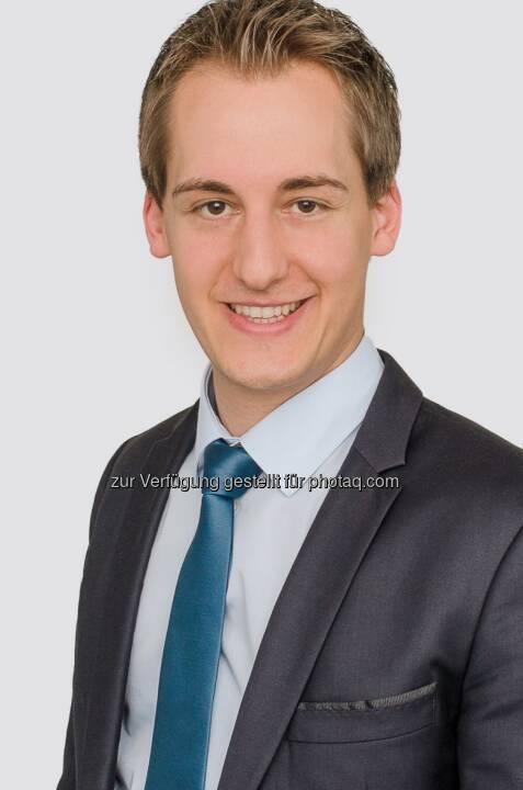 Christoph Schmidt (28) wird per 1. April 2016 mit der Geschäftsführung der switch Energievertriebsgesellschaft m.b.H. betraut, einem 100prozentigen Tochterunternehmen der EnergieAllianz Austria GmbH (EAA) : Fotocredit: Energie Burgenland