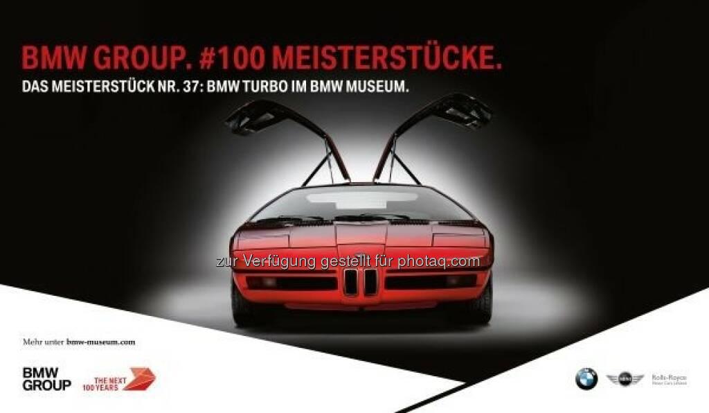 """Wechselausstellung BMW Museum : """"100 Meisterstücke. BMW Group – 100 Jahre Innovationskraft und unternehmerischer Mut"""" im BMW Museum : Jubiläumsausstellung gibt einzigartige Einblicke in ein Jahrhundert bewegte Unternehmensgeschichte : © BMW Group, © Aussendung (21.03.2016)"""