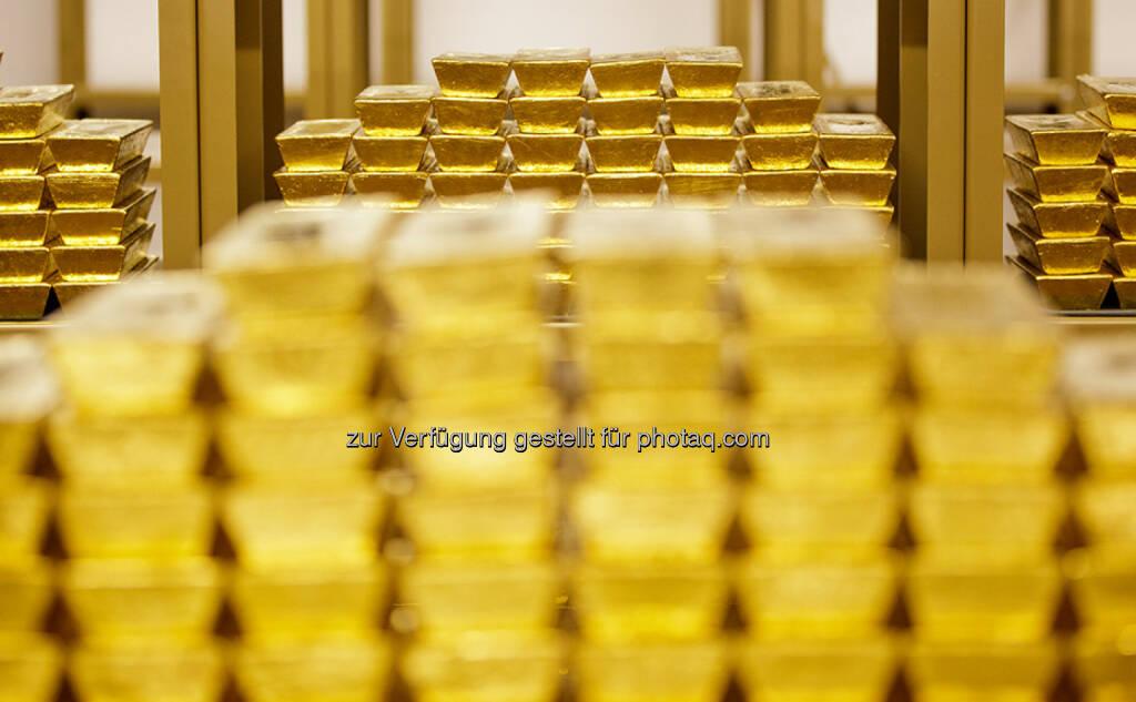 Goldbarren, Tresor (Bild: OeNB/Niesner) (24.03.2016)