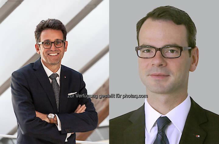 Gerhard Burtscher (Vorstandsvorsitzender BTV), Robert Wiesner (Leiter BTV Vermögensmanagement) : Vertrauen in die BTV steigt weiter : Aufgestiegen zur Elite der Vermögensverwalter im deutschsprachen Raum : Fotocredit: BTV/Schrott