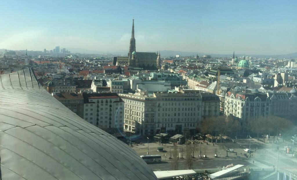 Big Media Brainstorming mit Blick auf den Stephansdom in Wien (31.03.2016)