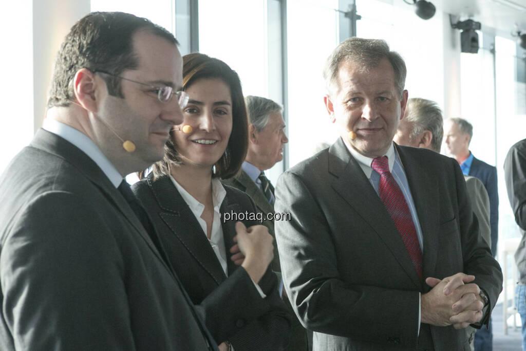 Daniel Riedl (COO Immofinanz), Birgit Noggler (CFO Immofinanz), Eduard Zehetner (CEO Immofinanz), http://privatanleger.immofinanz.com , © Martina Draper für Immofinanz (10.04.2013)