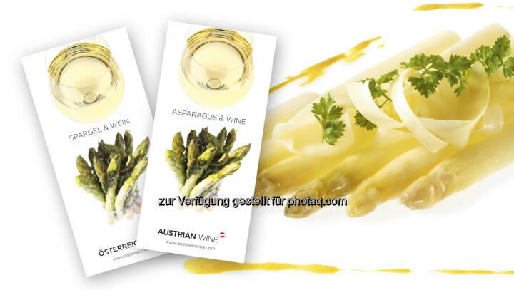 Broschüre Spargel und Wein : Gaumentanz in den Frühling : Broschüre Spargel und Wein der Österreich Wein Marketing (ÖWM) : Fotocredit: ÖWM / Ulli Kohl