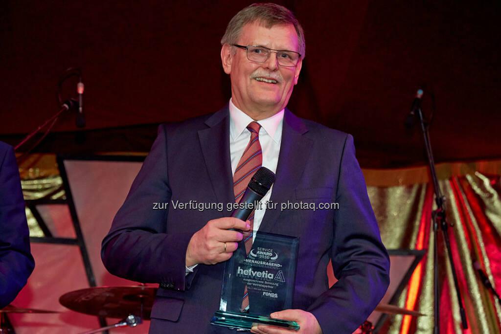 Jürgen Horstmann, Vorstand für den Bereich Leben : Helvetia belegt Platz 1 beim österreichischen Service Award : Fotocredit: Günter Menzl/FONDS professionell, © Aussendung (04.04.2016)