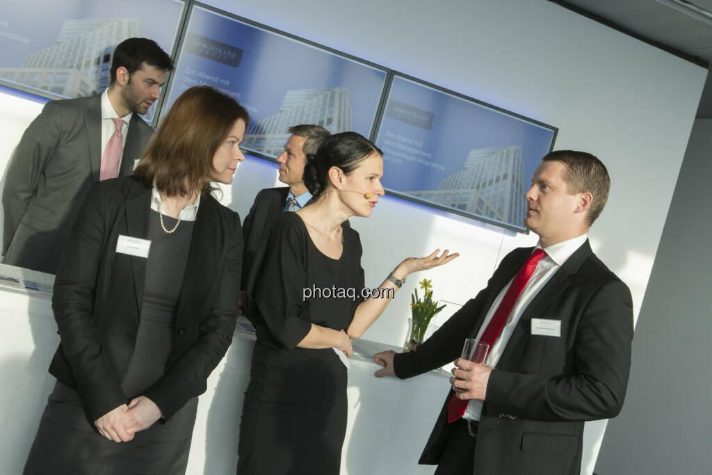 Simone Korbelius (Investor Relations Immofinanz), Bettina Schragl (Head of Corporate Communications Immofinanz), Stefan Schönauer (Head of Corporate Finance & Investor Relations), http://privatanleger.immofinanz.com , © Martina Draper für Immofinanz (10.04.2013)