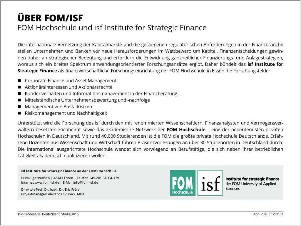 Über FOM/ISF, © Dividendenadel.de (06.04.2016)