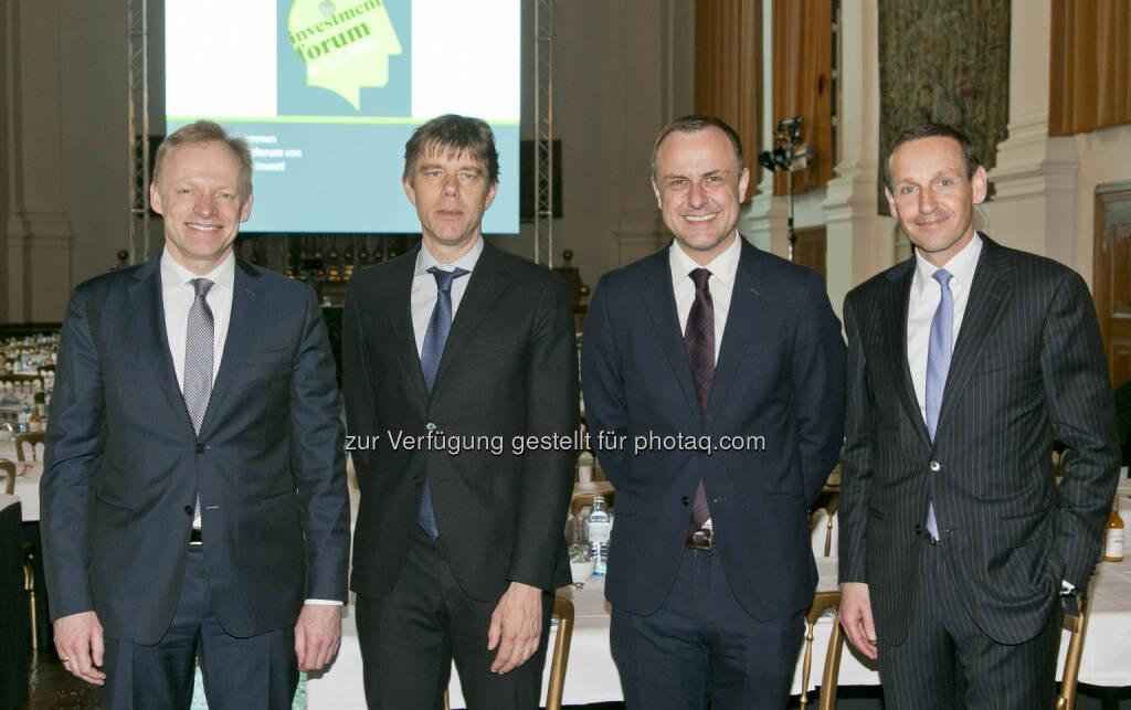 Clemens Fuest (ifo), Philipp Ther (Universität Wien), Peter Neumann (King's College), Markus Ploner (Spängler IQAM Invest), © Spängler IQAM Invest (07.04.2016)