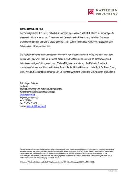 Kathrein Privatbank Stiftungspreis 2015, Seite 2/2, komplettes Dokument unter http://boerse-social.com/static/uploads/file_866_kathrein_privatbank_stiftungspreis_2015.pdf (11.04.2016)