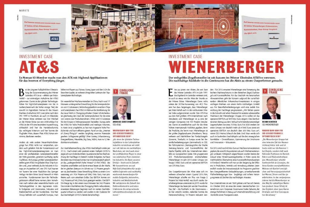 Fachheft 43 - AT&S, Wienerberger (11.04.2016)