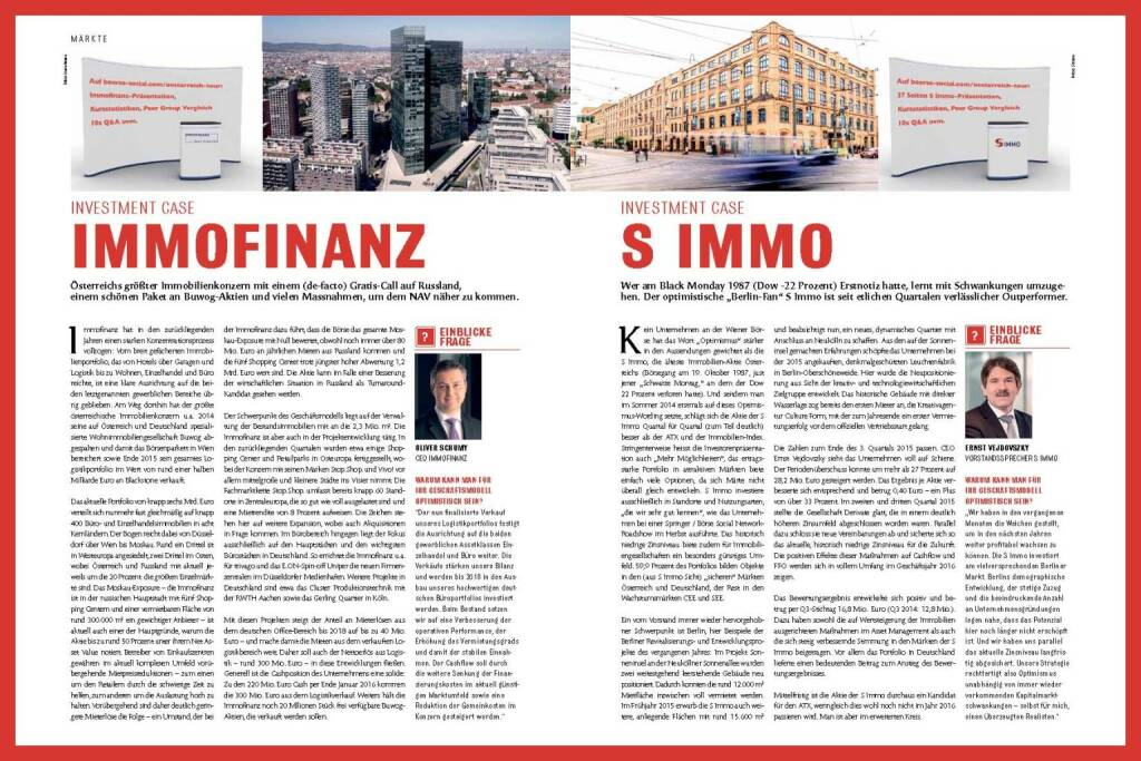 Fachheft 43 - Immofinanz, S Immo (11.04.2016)