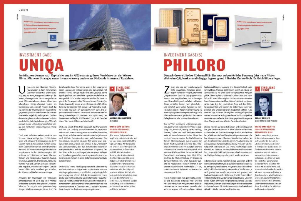 Fachheft 43 - Uniqa, Philoro (11.04.2016)