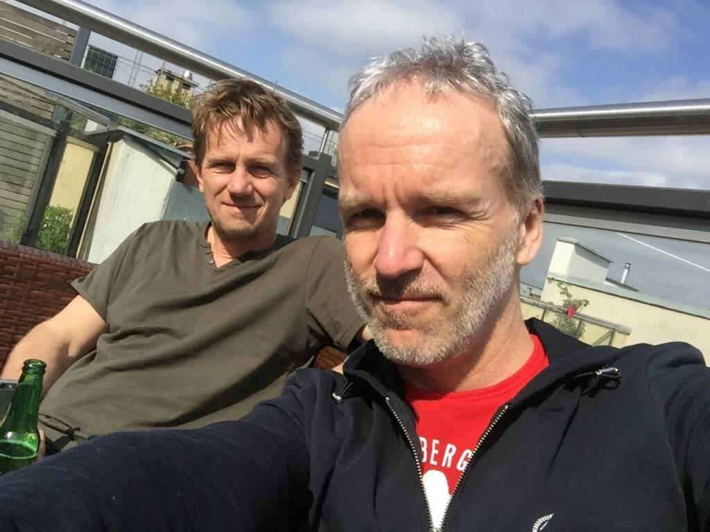 Mit Michael Marek bin ich 1986 meinen 1. VCM gelaufen, beim 2. im Jahr 2016 war er Schuhcoach (11.04.2016)