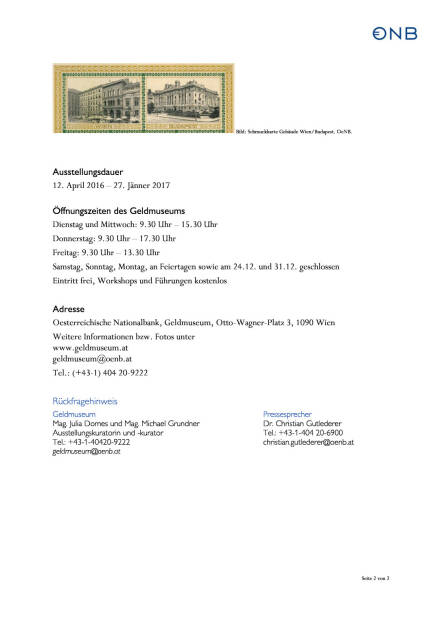 OeNB: Die Währungshüterin - Ausstellung zum  200. Jubiläum , Seite 2/2, komplettes Dokument unter http://boerse-social.com/static/uploads/file_867_oenb_die_wahrungshuterin_-_ausstellung_zum_200_jubilaum.pdf (11.04.2016)