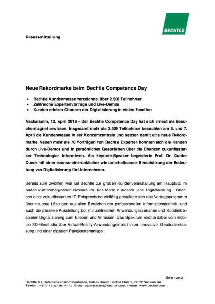 Bechtle: Neue Rekordmarke beim Competence Day, Seite 1/2, komplettes Dokument unter http://boerse-social.com/static/uploads/file_873_bechtle_neue_rekordmarke_beim_competence_day.pdf (12.04.2016)