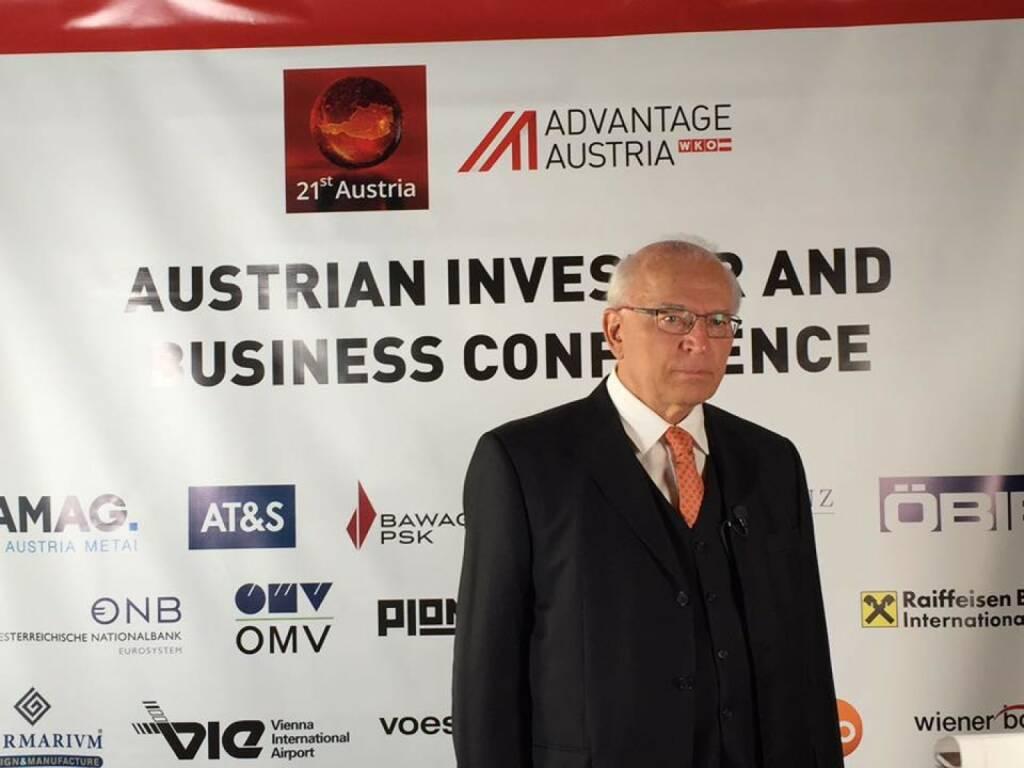 Claus Raidl beim 21st Austria Event in NYC (Bild: Verena Nowotny)  (14.04.2016)