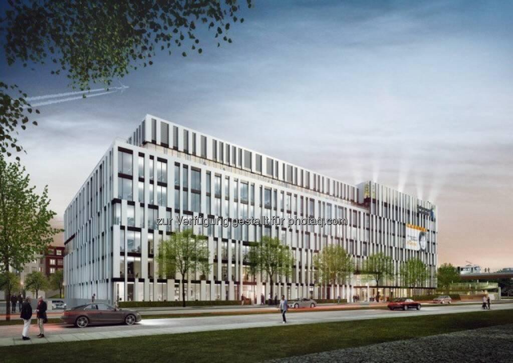 La Tete Düsseldorf : Porr Deutschland baut Bürogebäude La Tete in Düsseldorf : Fotocredit: (c)Aurelis Real Estate GmbH und Co. KG, © Aussendung (18.04.2016)